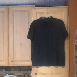 John Varvatos Navy Blue Short Sleeve Polo Shirt